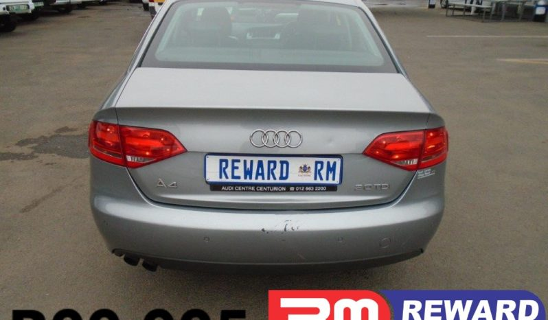 2009 Audi A4 2.0 TDI Attraction For Sale in Boksburg full